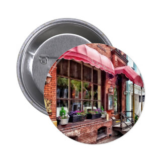 Alexandria VA - Red Awnings on King Street 6 Cm Round Badge