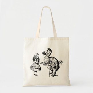 Alice and the Dodo Inked Black Budget Tote Bag