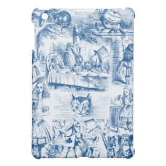 Alice In Wonderland Blue & White Toils iPad Mini Cases