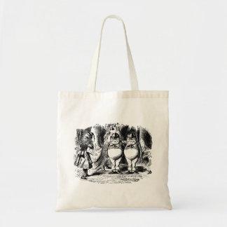 Alice in wonderland budget tote bag
