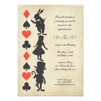 Alice in Wonderland Cards Tea Party Birthday 13 Cm X 18 Cm Invitation Card