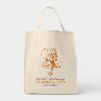 Alice in Wonderland Grocery Tote Bag