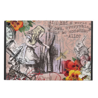 Alice in Wonderland Hatter and Rabbit iPad Air Cover