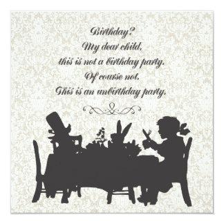 Alice in Wonderland Mad Hatter Tea Party Birthday 13 Cm X 13 Cm Square Invitation Card