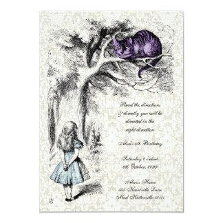 Alice in Wonderland Mad Hatters Tea Party Birthday 13 Cm X 18 Cm Invitation Card