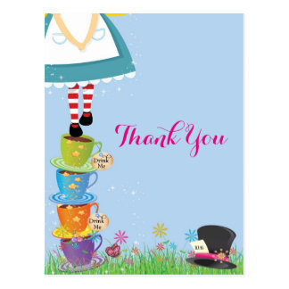 Alice in Wonderland Thank You Cards Postcard