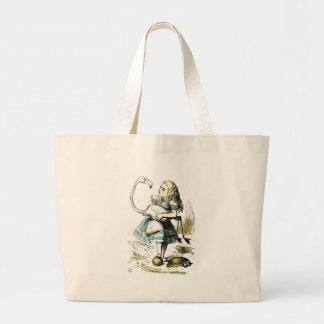 Alice & the Flamingo Light Pastels Jumbo Tote Bag