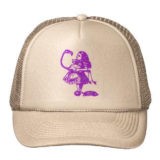 Alice & the Flamingo Purple Cap