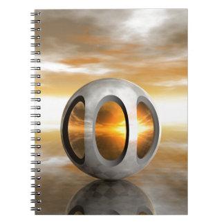 Alien Pod Spiral Note Book