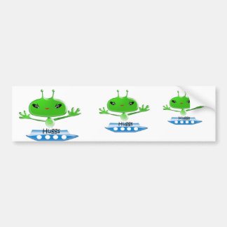 Aliens Huggs Gifts & Promotional Products T-shirts Bumper Sticker
