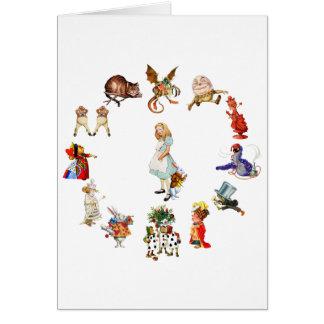 All Around Alice in Wonderland Greeting Card