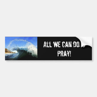 All we can do is pray! bumper sticker
