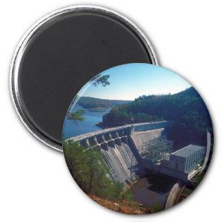 Allatoona Dam and Lake 6 Cm Round Magnet