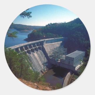 Allatoona Dam and Lake Round Sticker