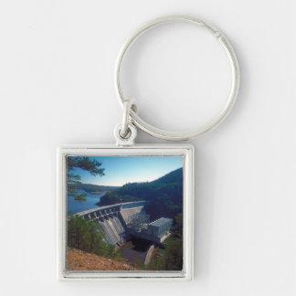 Allatoona Dam and Lake Silver-Colored Square Key Ring
