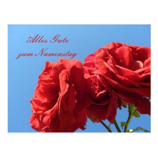 Alles Gute zum Muttertagmit rosa rosen Postcard