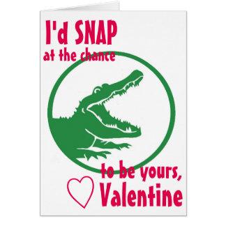 Alligator Valentine's Day card