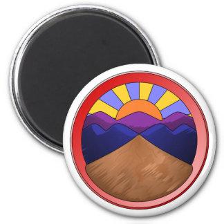 Alluvial Fan Logo 6 Cm Round Magnet