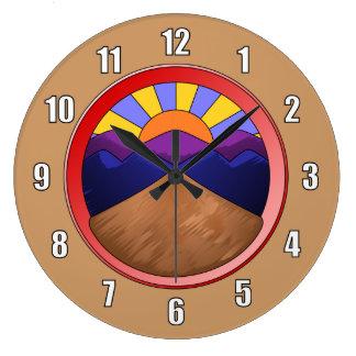 Alluvial Fan Logo Wall Clocks