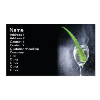 Aloe drink pack of standard business cards