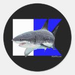 Alpha Flag Divers Collection Round Sticker