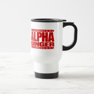 ALPHA GINGER - A Red-Haired Pale Warrior, Red Stainless Steel Travel Mug