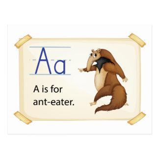 Alphabet A Postcard