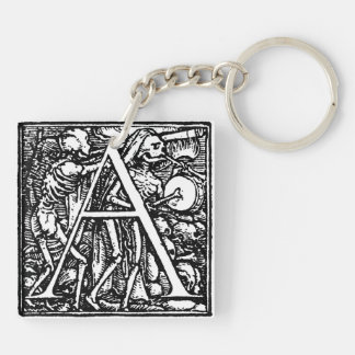 Alphabet of Death letter A key chain