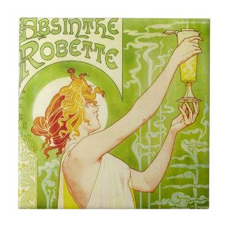 Alphonse Mucha Absinthe Robette Tile
