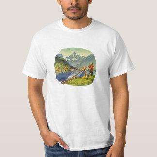 Alphorn Alp Alpine Long Horn Octoberfest T-shirt