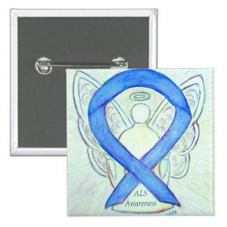 ALS Angel Awareness Ribbon Custom Art Pin