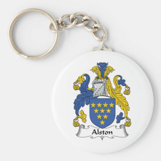 Alston Family Crest Basic Round Button Key Ring