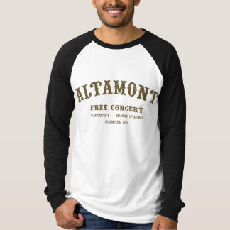 altamont free concert t-shirts