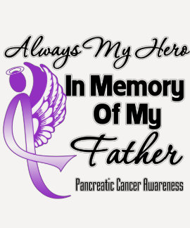Always My Hero In Memory Father - Pancreatic Cance Tshirt