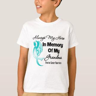 Always My Hero In Memory Grandma - Ovarian Cancer Tshirt