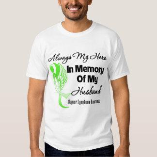 Always My Hero In Memory Husband - Lymphoma T-shirt