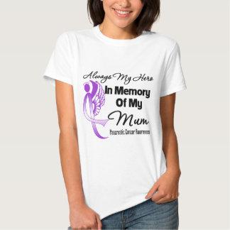 Always My Hero In Memory Mum - Pancreatic Cancer Tee Shirt