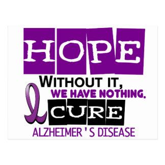 Alzheimer's Disease HOPE 2 Postcard