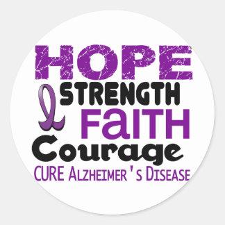 Alzheimer's Disease HOPE 3 Round Sticker