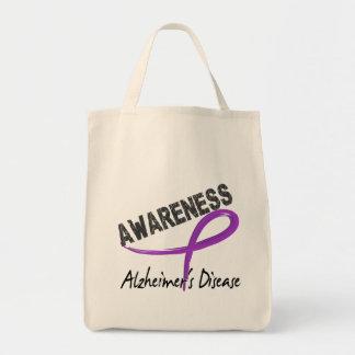 Alzheimer's Disease Awareness 3 Grocery Tote Bag