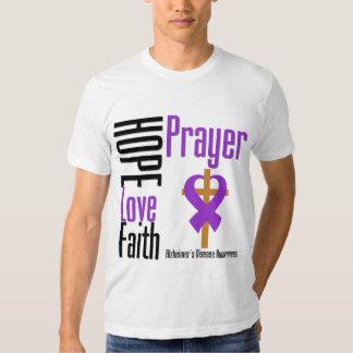 Alzheimers Disease Hope Love Faith Prayer Tshirts