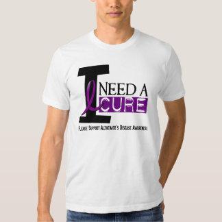 Alzheimer's Disease I NEED A CURE 1 T-shirts