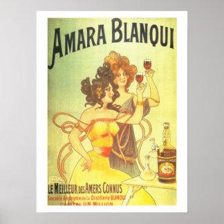 Amara blanqui French victorian advertisement Poster