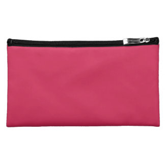 AMARANTH RED (solid color) ~ Makeup Bags