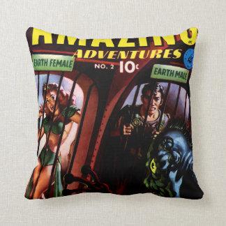 Amazing Adventures #2 Retro Sci Fi Comic Book Throw Cushions