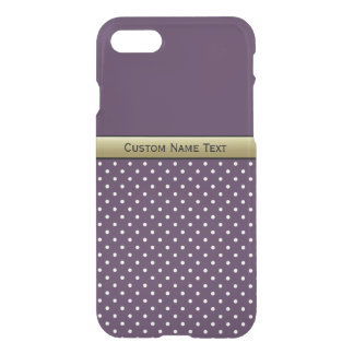 Amazing Color Combination. Violet White Polka Dots iPhone 7 Case