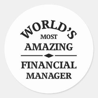 Amazing Financial Manager Round Sticker
