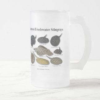 Amazon Freshwater Stingrays Frosted Glass Mug