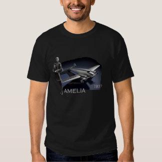 Amelia Earhart and her Lockheed Electra Plane Tee Shirts