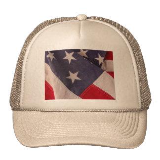 America flag khaki hat